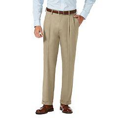 Men's J.M. Haggar Premium Classic-Fit Stretch Sharkskin Pleated Dress Pants