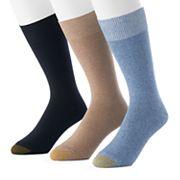 Men's GOLDTOE 3-pack Micro-Knit Crew Socks