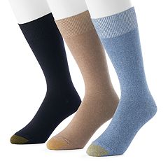 Men's GOLDTOE 3-pack Micro-Knit Crew Socks