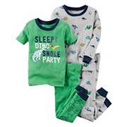 Baby Boy Carter's 4 pc Tops & Pants Pajama Set