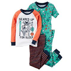 Baby Boy Carter's 4-pc. Tops & Pants Pajama Set