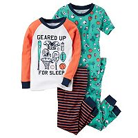 Toddler Boy Carter's 4 pc Tops & Pants Pajama Set