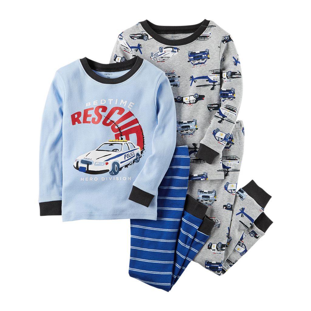 Toddler Boy Carter's 4-pc. Tops & Pants Pajama Set