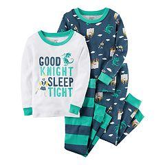 Toddler Boy Carter's 4 pc Tops & Pants Pajama Set