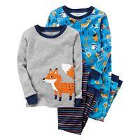 Toddler Boy Carter's 4-pc. Animal Tops & Pants Pajama Set