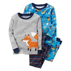 Toddler Boy Carter's 4-pc. Animal Tops & Pants Pajama Set