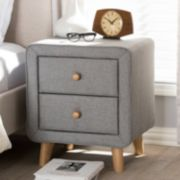 Baxton Studio Jonesy Upholstered Nightstand