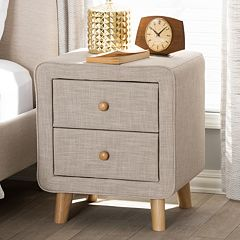 Baxton Studio Jonesy Upholstered Nightstand