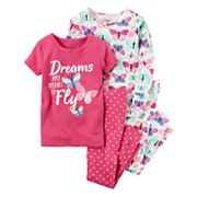 Baby Girl Carter's Graphic Tees & Print Pants Pajamas Set