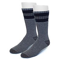 Extended Size Croft & Barrow® 2-pack Striped Crew Socks