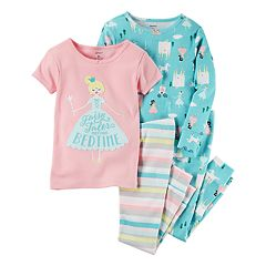 Baby Girl Carter's Embroidered Tees & Pants Pajama Set