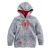 Boys 4-7 Marvel Spider-Man Marled Zip Hoodie