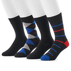 Men's Hanes 4-pack Fresh IQ Crew Socks