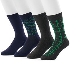 Men's Hanes 4-pack Fresh IQ Crew Socks