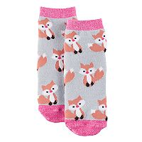 Girls 4-16 Cuddl Duds Knit-In Fox Slipper Socks