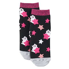 Girls 4-16 Cuddl Duds Knit-In Cat Star Slipper Socks