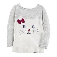 Baby Girl Carter's Kitty Face Sweater