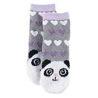 Girls 4-16 Cuddl Duds Panda Face Slipper Socks