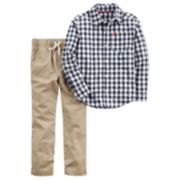 Boys 4-7x Carter's Plaid Shirt & Pants Set