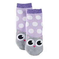 Girls 4-16 Cuddl Duds Owl Face Slipper Socks