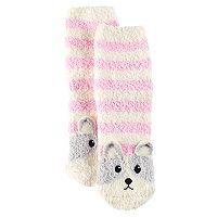 Girls 4-16 Cuddl Duds 3D Dog Tactel Socks