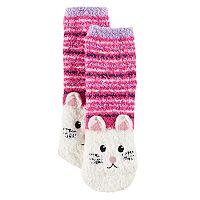 Girls 4-16 Cuddl Duds 3D Bunny Tactel Socks