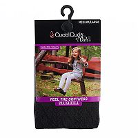 Girls 7-16 Cuddl Duds Diamond Cable Knit Textured Tights