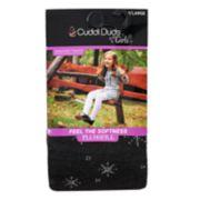 Girls 4-16 Cuddl Duds Plushfill Snowflake Sweater Tights