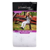 Girls 4-16 Cuddl Duds Plushfill Snowflake Sweater Tights