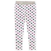 Baby Girl Carter's Sparkly Waistband Heart Leggings