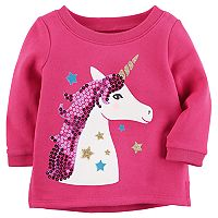 Baby Girl Carter's Sequin Unicorn Sweatshirt
