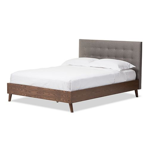 Baxton Studio Alinia Upholstered Bed
