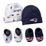 Baby New EnglandPatriots 4-Piece Cap & Bootie Set