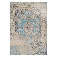 Couristan Vintage Antique Tabriz Framed Floral Rug