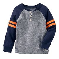 Boys 4-12 OshKosh B'gosh® Raglan Striped Sleeve Henley