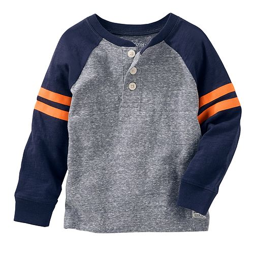 7432f099a Boys 4-12 OshKosh B'gosh® Raglan Striped Sleeve Henley