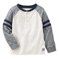Boys 4-12 OshKosh B'gosh® Raglan Striped Sleeve Henley