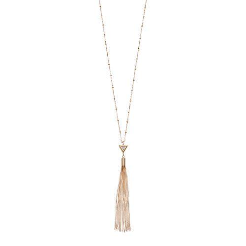 LC Lauren Conrad Cubic Zirconia Triangle Tassel Pendant Necklace