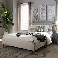 Baxton Studio Mia Upholstered Bed