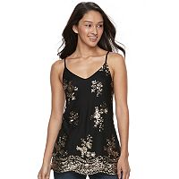 Juniors' About A Girl Embellished Camisole