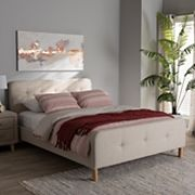 Baxton Studio Mid-Century Upholstered Bed