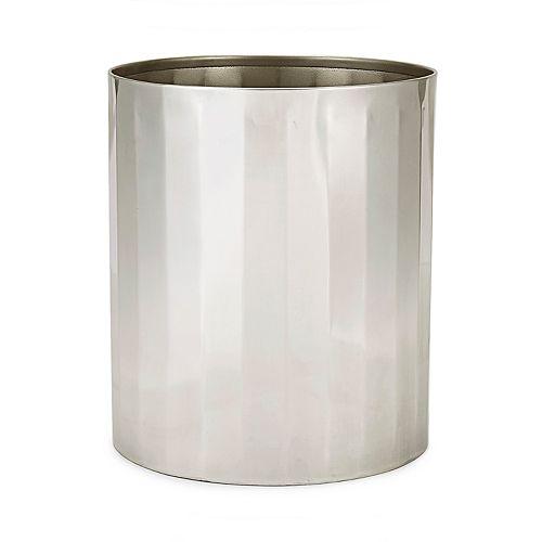 Kassatex Nomad Stainless Steel Wastebasket