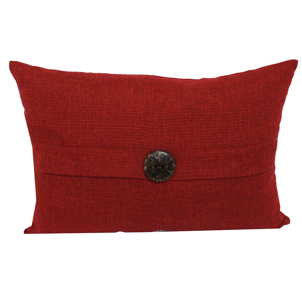 SONOMA Goods for Life™ Solid Button Indoor Outdoor Oblong Throw Pillow