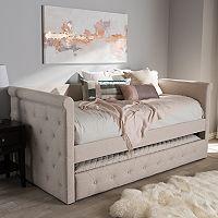 Baxton Studio Alena Upholstered Daybed & Trundle