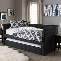 Baxton Studio Alena Upholstered Daybed & Trundle