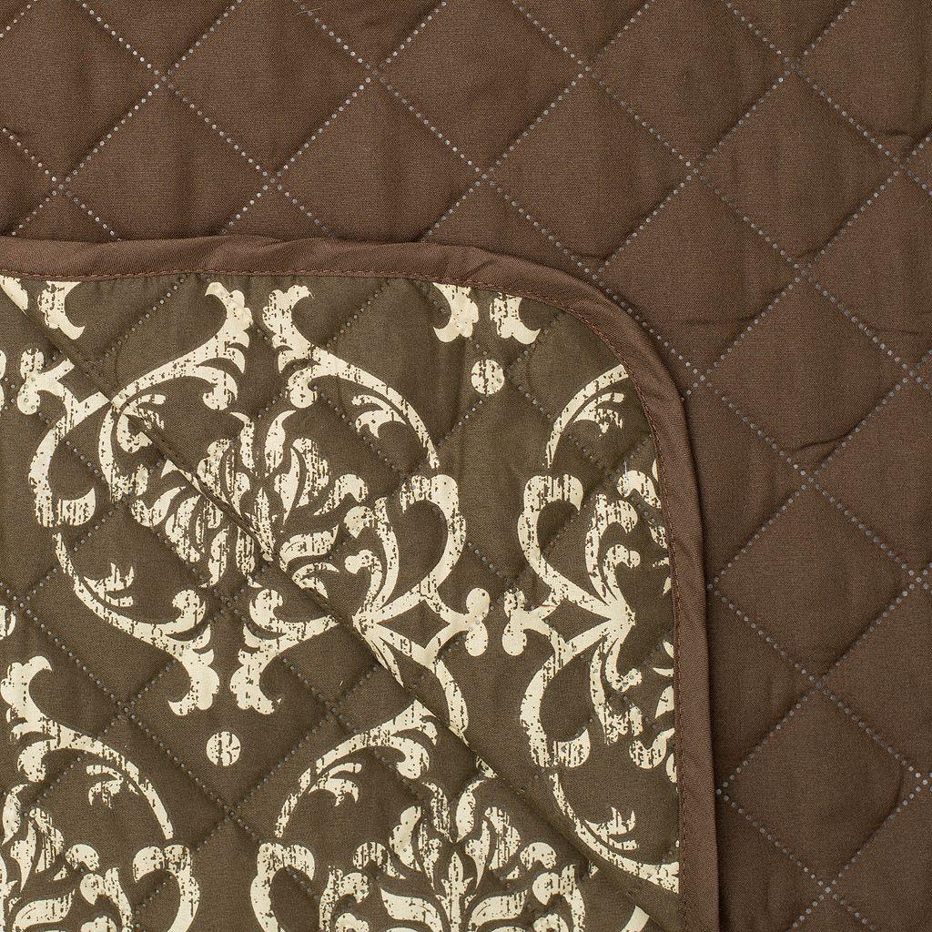 Home Fashion Designs Kingston Stain Resistant Loveseat Slipcover