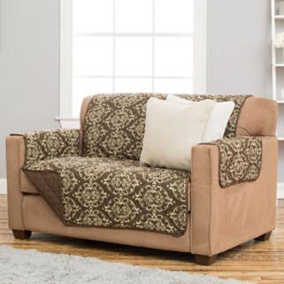 Home Fashion Designs Kingston Stain Resistant Loveseat Slipcover