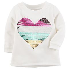 Baby Girl Carter's Multicolor Sequin Heart Sweatshirt