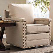 Baxton Studio Contemporary Swivel Arm Chair