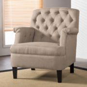 Baxton Studio Jester Traditional Tufted Arm Chair
